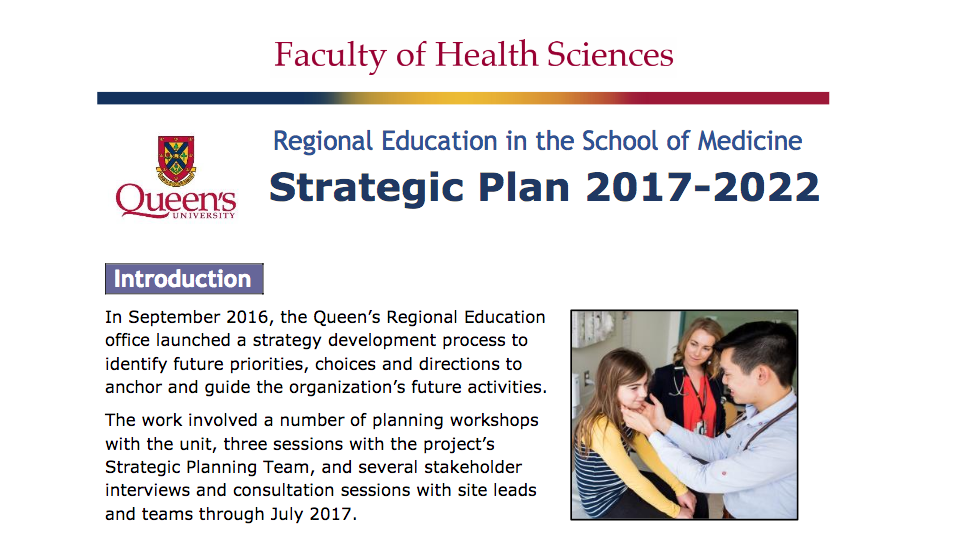 Regional Education Strategic Plan 2017 - 2022
