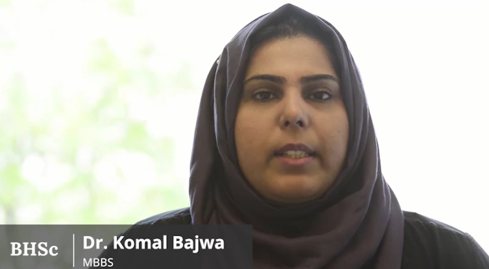 Video Title: Dr. Komal Bajwa