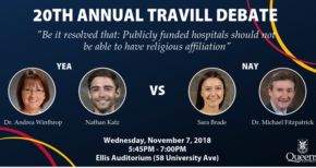 20th Annual Travill Debate set for November 7